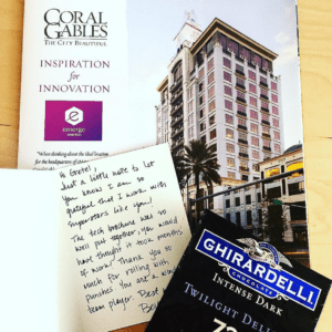CITY OF CORAL GABLES THANK YOU CARD